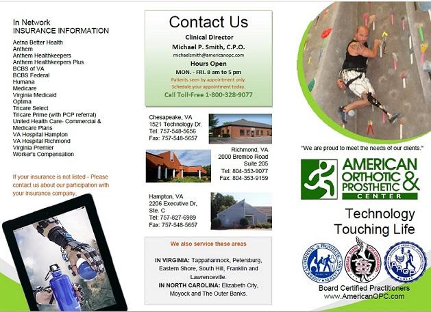 American Orthotic Brochure